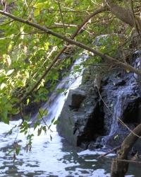 Маленький водопад прямо в Запорожье